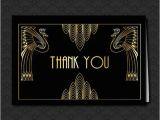 Great Gatsby Birthday Card Thank You Card Great Gatsby Wedding Art Deco Black and