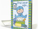 Great Grandson 1st Birthday Card Great Grandson 39 S First Birthday Baby Boy and Gifts Card