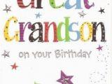 Great Grandson 1st Birthday Card Great Grandson Birthday Card Colour Insert Birthday