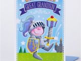 Great Grandson Birthday Cards Birthday Card Great Grandson Knight Only 29p