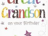 Great Grandson Birthday Cards Great Grandson Birthday Card Colour Insert Birthday