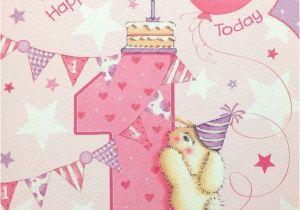 Great Niece Birthday Card Age 1 1st Short Verse