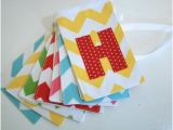 Green and Yellow Happy Birthday Banner Fabric Happy Birthday Banner Primary Colors by Paisleyhandmade