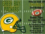 Green Bay Birthday Cards Green Bay Packers Football Invitations or Thank You Card
