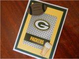 Green Bay Birthday Cards Green Bay Packers Happy Birthday Football Handmade Greeting
