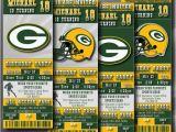 Green Bay Packers Birthday Invitations Green Bay Packers Birthday Invitation Football Ticket by