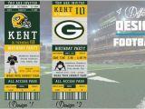 Green Bay Packers Birthday Invitations Green Bay Packers Birthday Invitation Football Ticket