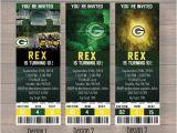 Green Bay Packers Birthday Invitations Green Bay Packers Custom Party Ticket Invitations Birthday