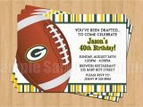 Green Bay Packers Birthday Invitations Green Bay Packers Football Birthday Bachelor Party Invitations