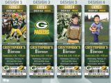 Green Bay Packers Birthday Invitations Green Bay Packers Football Invitation Sport by Sportbirthday