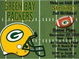 Green Bay Packers Birthday Invitations Green Bay Packers Football Invitations or Thank You Card