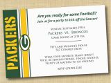 Green Bay Packers Birthday Invitations Green Bay Packers Football Party Invitation by Dovetaildesigns