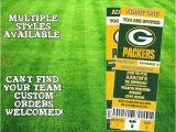 Green Bay Packers Birthday Invitations Green Bay Packers Ticket Invitation