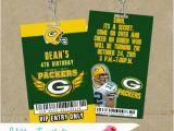 Green Bay Packers Birthday Invitations Green Bay Packers Vip Pass Birthday Lanyard Invites