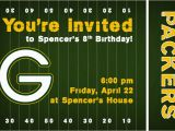 Green Bay Packers Birthday Invitations Invite146