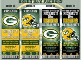 Green Bay Packers Birthday Invitations Packers Football Invitation Football Birthday by