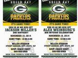 Green Bay Packers Birthday Invitations Printable Birthday Party Invitation Card Greenbay Packers