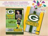 Green Bay Packers Birthday Invitations Printable Nfl Green Bay Packers Birthday Invitation by
