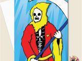 Grim Reaper Birthday Card Grim Reaper Card Birthday Card Greeting Card Halloween