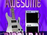 Guitar Birthday Meme Have A Awesome Guitar Birthday Greeting 5 Quot X7 Quot Card