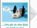 Gym Birthday Card Funny Gym Cat Personalised Birthday Card Quot We Know why You