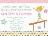 Gym Birthday Party Invitations Gymnastics Birthday Party Invitation by thebutterflypress
