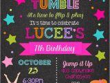 Gym Birthday Party Invitations Gymnastics Birthday Party Invitations Printable or Digital