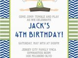 Gym Birthday Party Invitations Gymnastics Invitation by Little Laws Prints Catch My Party