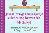 Gym Birthday Party Invitations Gymnastics Party Gymnastics Invitation by Kinsleyskloset
