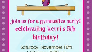 Gym Birthday Party Invitations Gymnastics Party Gymnastics Invitation by Kinsleyskloset