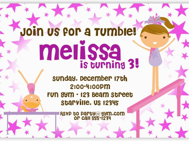 Download By SizeHandphone Tablet Desktop Original Size Back To Gymnastic Birthday Party Invitations