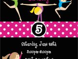 Gymnastics Birthday Invitation Templates Gymnastic Birthday Invitation Templates