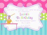 Gymnastics Birthday Invitation Templates Gymnastics Birthday Party Invitations Printable or Digital