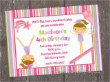 Gymnastics Birthday Invitation Templates Gymnastics Party Invitation Template