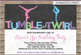 Gymnastics Birthday Invitation Templates Gymnastics Party Invitations Birthday Party Template