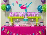 Gymnastics Birthday Party Decorations A Bright Colorful Gymnastics Birthday Party Hoopla