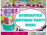 Gymnastics Birthday Party Decorations Bright and Colorful Gymnastics Birthday Party Pretty My