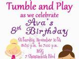 Gymnastics Birthday Party Invitations Printable Gymnastic Party Diy Printable Invitation In socuteparties