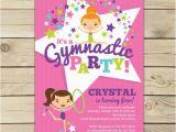 Gymnastics Birthday Party Invitations Printable Gymnastics Birthday Invitation Printable Gymnastics