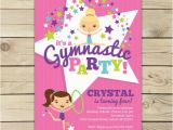 Gymnastics themed Birthday Invitations Gymnastics Invitation Printable Gymnastics Birthday Party