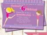 Gymnastics themed Birthday Invitations Gymnastics theme Birthday Party Invitation 5×7 Printable