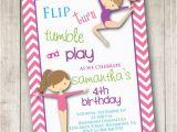 Gymnastics themed Birthday Invitations Items Similar to Gymnastics 2 Birthday Invitations