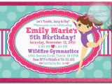 Gymnastics themed Birthday Invitations Tumbling Gymnastics Party Birthday Invitations Di 273