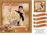 Hairdresser Birthday Card Hairdresser Card Front Cup714212 174 Craftsuprint