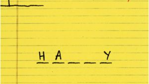 Hairy buttocks Birthday Card Hangman 1 Card 1 Envelope Recycled Paper Greetings Funny