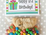 Half Birthday Decorations Half Birthday Class Gift with Free Printable Bag topper
