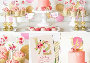 Half Birthday Decorations Half Birthday Decorations Gold Glitter Floral Watercolor