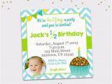Half Birthday Invitation Half Birthday Invitation Boy 6 Month Birthday Invitation