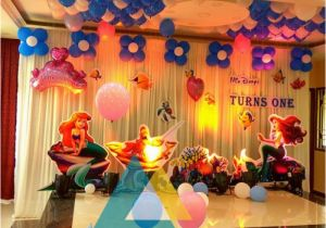 Hall Decorating Ideas for Birthday Party Little Mermaid themed Birthday Decoration Celebration