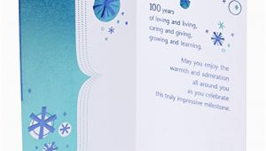 Hallmark 100th Birthday Card Hallmark 100th Birthday Greeting Card 100th with Confetti